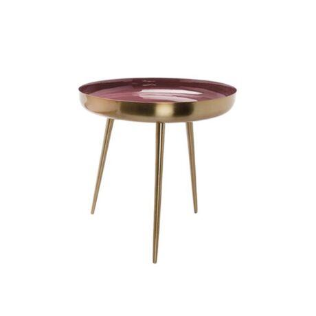 Frame lámpaasztal, bordó/arany