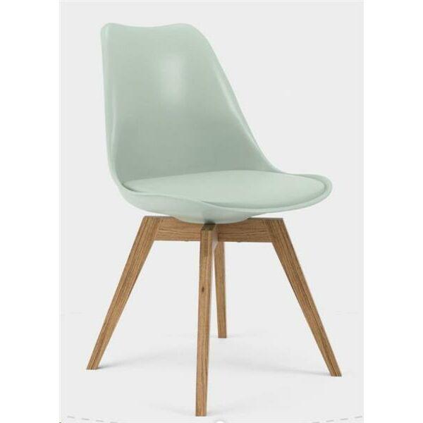 Gina szék, zsálya PP+PU, tölgy láb