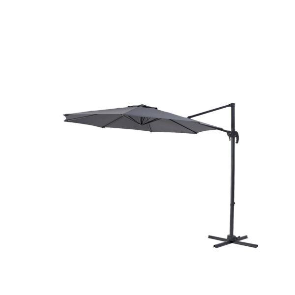 Milan függő napernyő, szürke