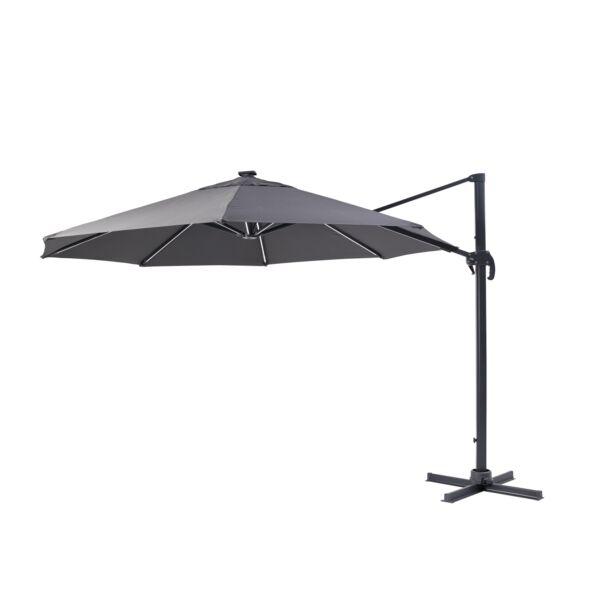 Roma függő napernyő, szürke