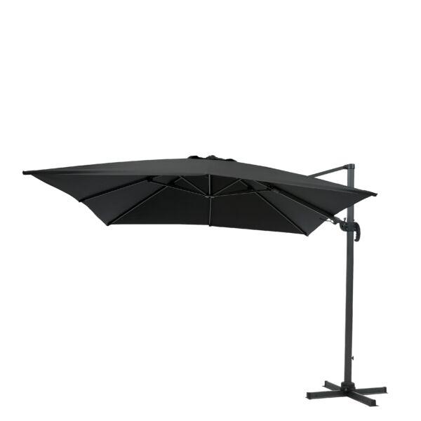 Boston függő napernyő, fekete