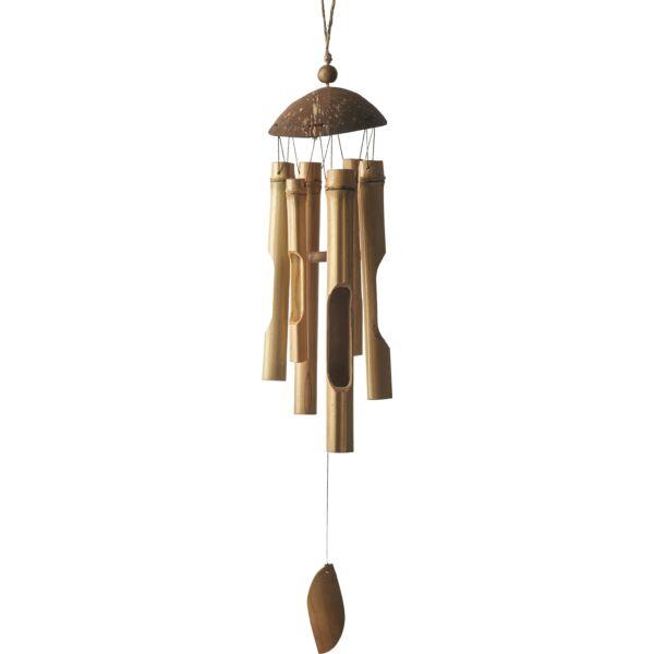Beatha szélcsengő, natúr bambusz, D13 cm