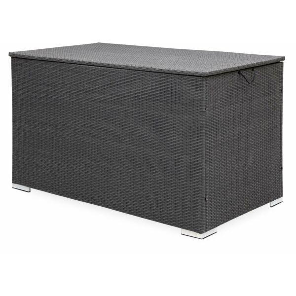 Fornaci párna tartó doboz, fekete polyrattan