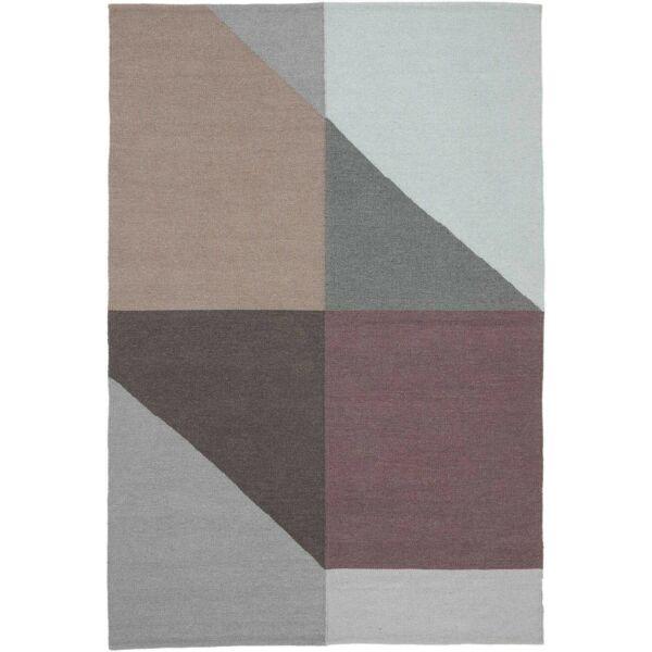 Inken szőnyeg, burgundi vörös/bézs, 160x230 cm