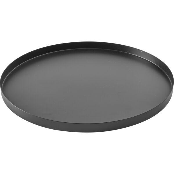 Tassa tálca, fekete fém