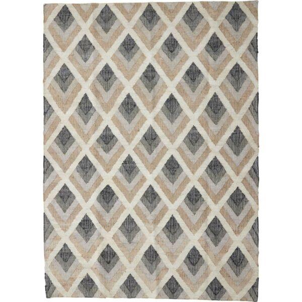 Juska szőnyeg, 170x240 cm, fekete-fehér