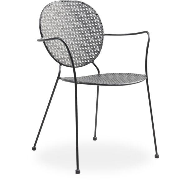 Marita kerti szék, fekete