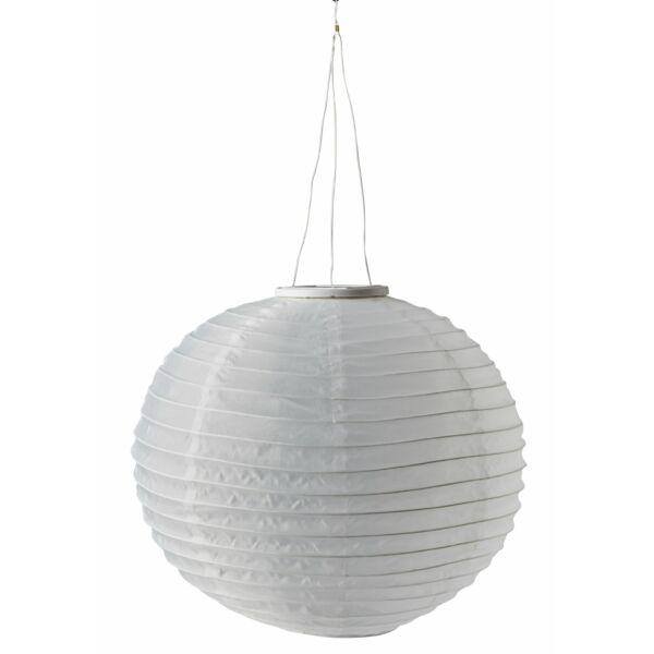 Snorre szolárlámpás, fehér poliészter, D40 cm