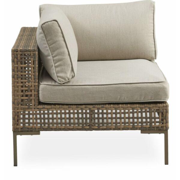 Serino kerti moduláris kanapé, sarok elem, natúr polyrattan