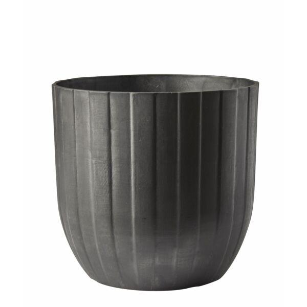 Kelda kaspó, antracit műanyag, D30 cm