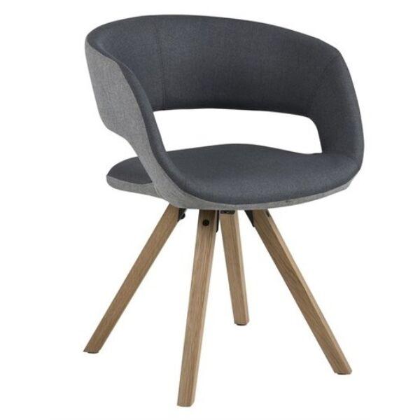 Grace szék, sötétszürke szövet