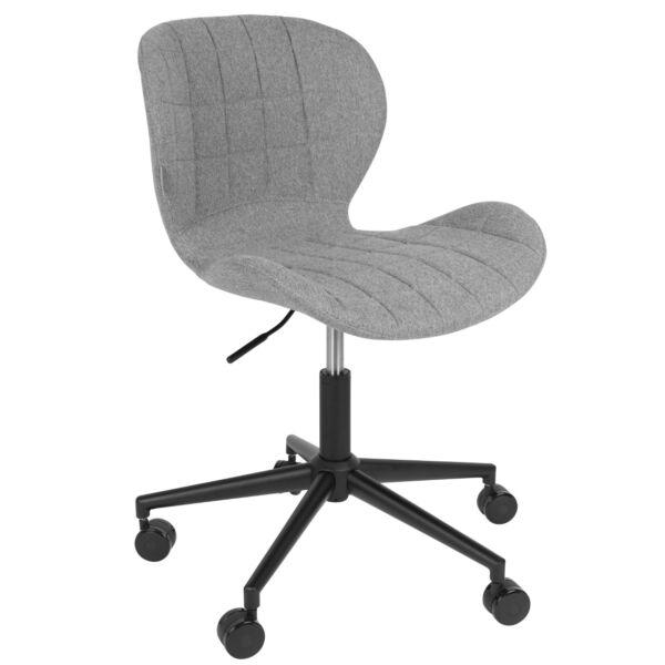 OMG irodai design szék, világosszürke szövet