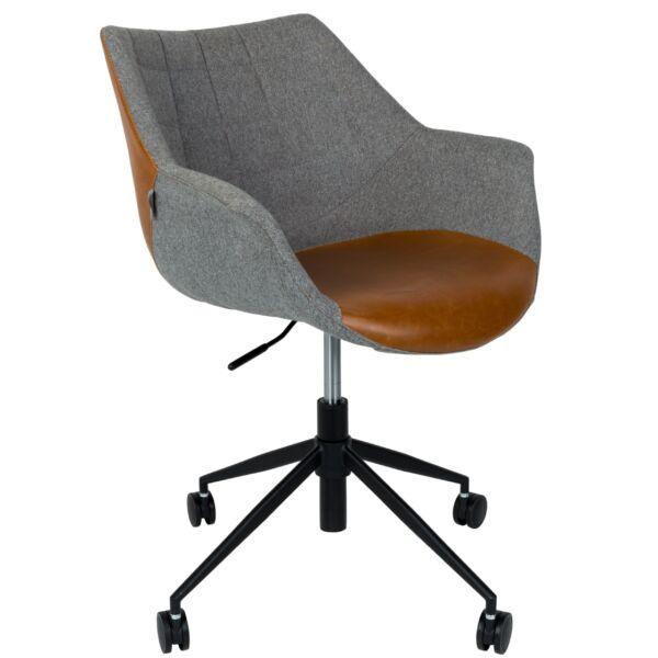 Doulton irodai design szék, barna textilbőr/szövet