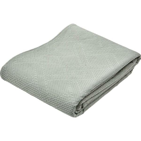 Neldo ágytakaró, zöld/szürke 260x260 cm