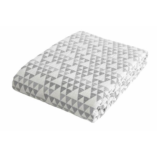 Barton ágytakaró, fehér/szürke, 245x260 cm