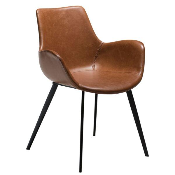 Hype karfás design szék vintage világos barna bőr