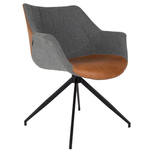 Doulton design szék, vintage barna