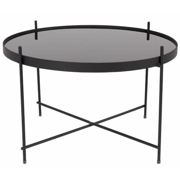 Cupid lerakóasztal L, fekete üveg