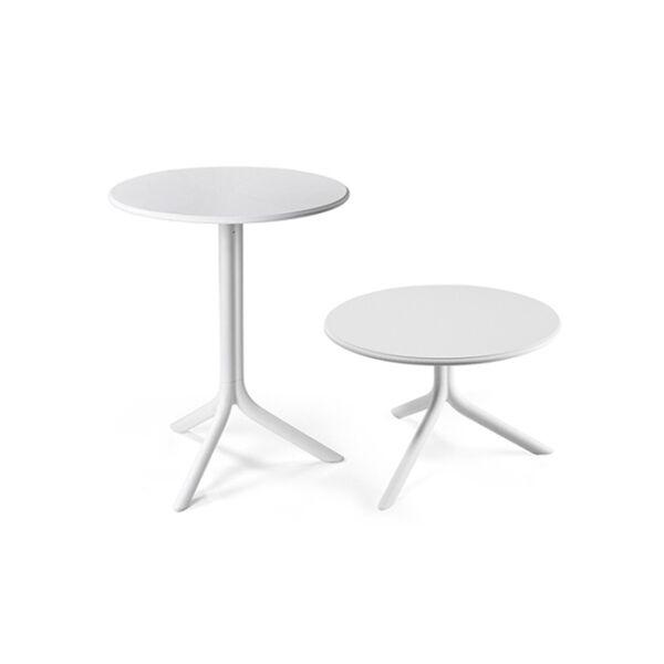 SPRITZ kerti asztal, fehér, D60cm