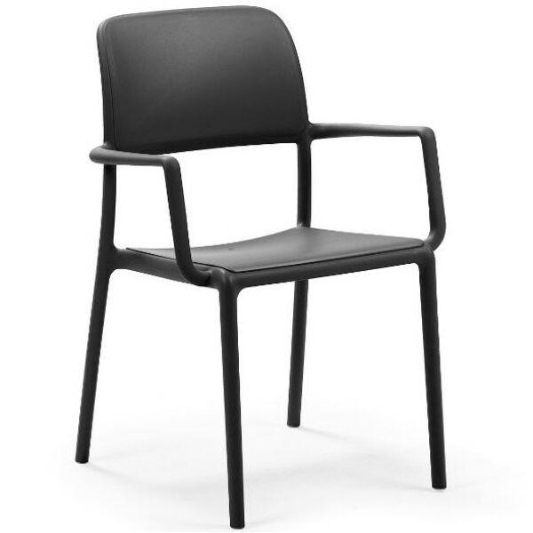Riva kerti karfás szék, antracit