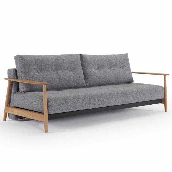 Eluma Deluxe Button ágyazható kanapé, 565 világos szürke szövet