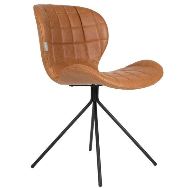 OMG LL design szék, barna textilbőr