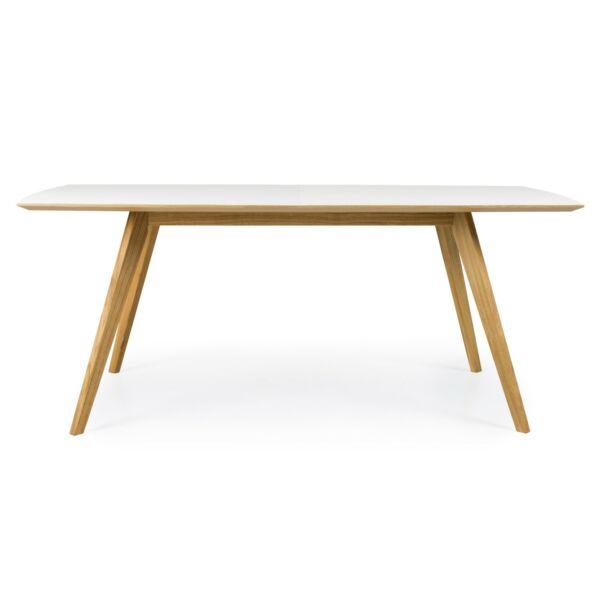 Bess étkezőasztal, fehér HPL asztallap, tölgy láb, 185 cm
