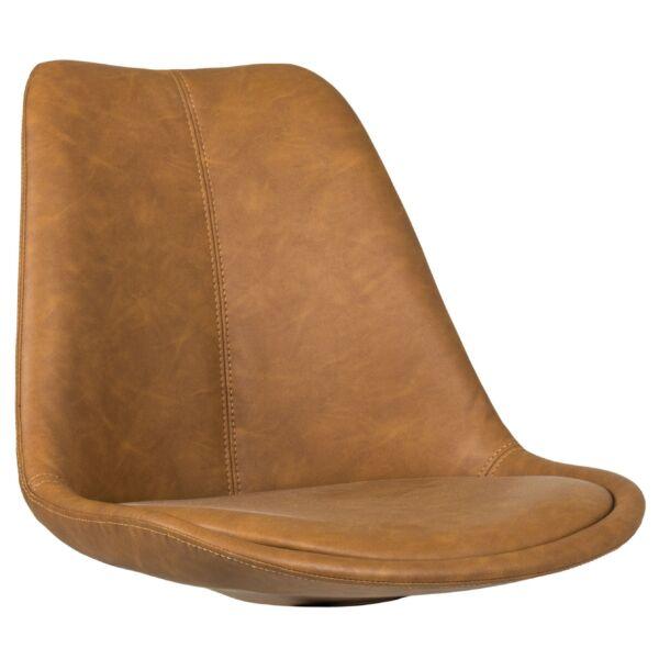 Gina ülőlap, barna textilbőr