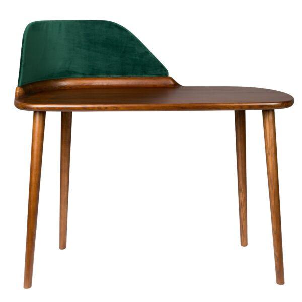 Finn íróasztal, lakkozott kőris, zöld bársony