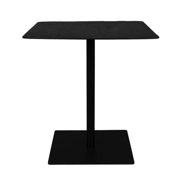 Braza bisztró asztal, fekete, négyszögletes, 70 cm