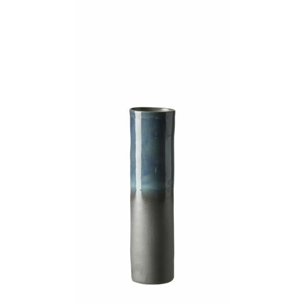 Matt kék váza, H34cm