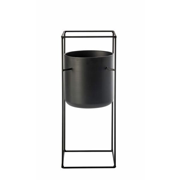 Lith virágállvány, fekete, H50cm