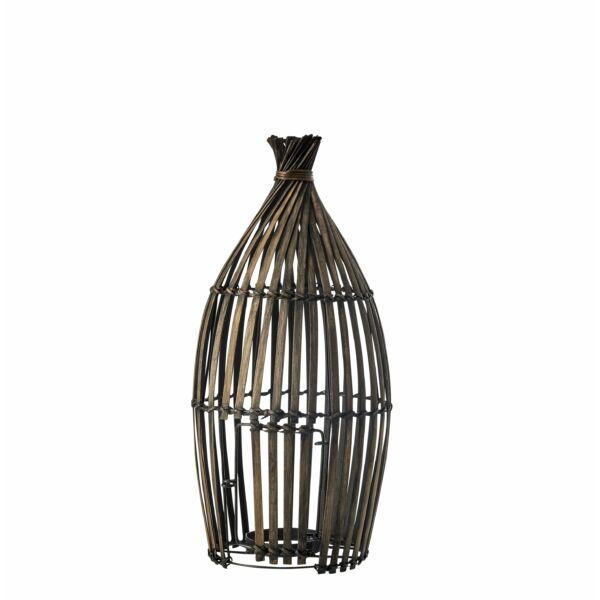 Faraway gyertyatartó, bambusz, H45cm