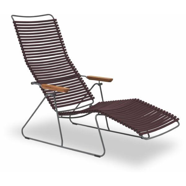 Click napozó szék, bordó