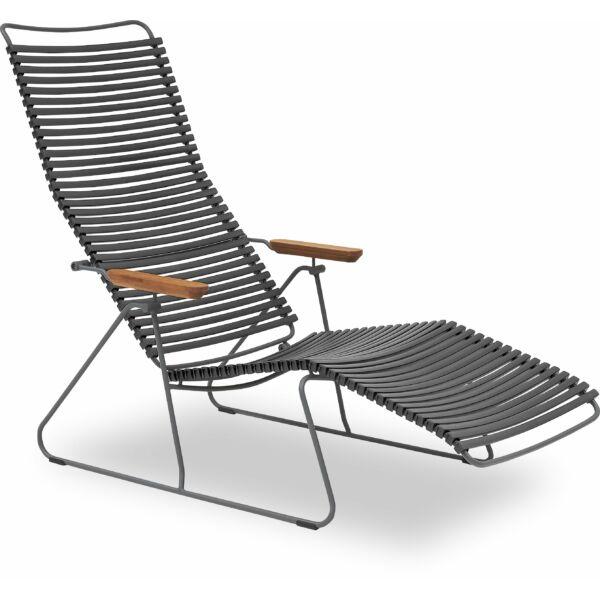 Click napozó szék, sötét szürke