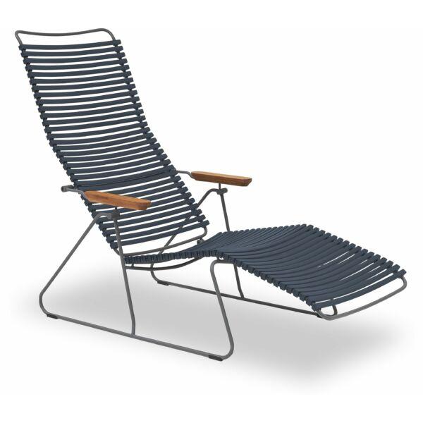 Click napozó szék, sötét kék