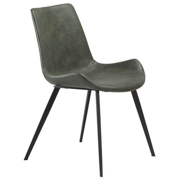 Hype szék, zöld bőr