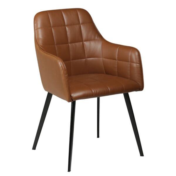 Embrace szék, világosbarna textilbőr