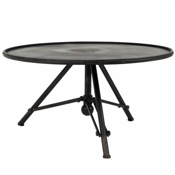 Snow lerakóasztal fekete kerek S