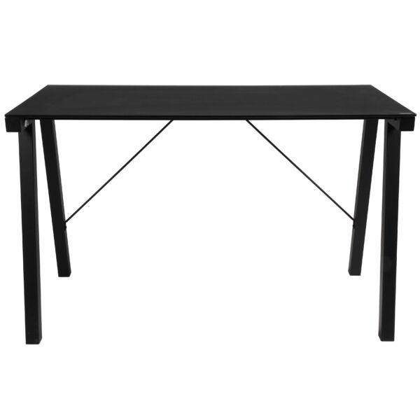 Typhoon íróasztal fekete, matt fekete üveg