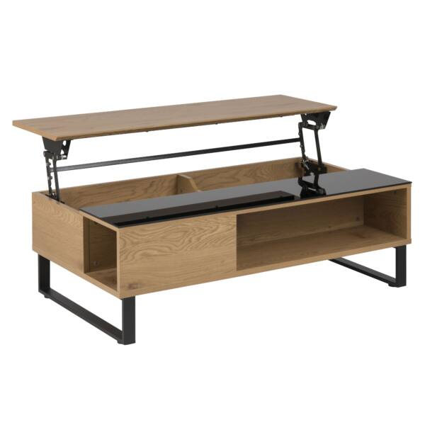 Azalea felnyitható dohányzóasztal,tölgy/fekete