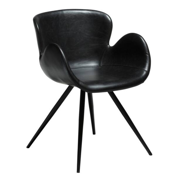 Gaia design szék, fekete textilbőr