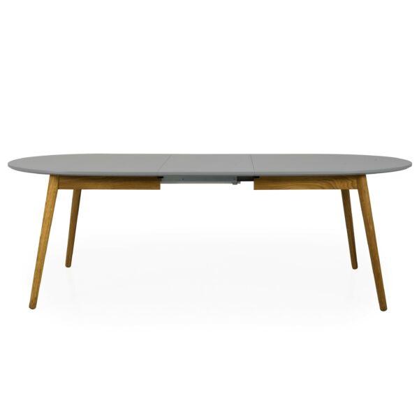Dot ellipszis bővíthető étkezőasztal, szürke