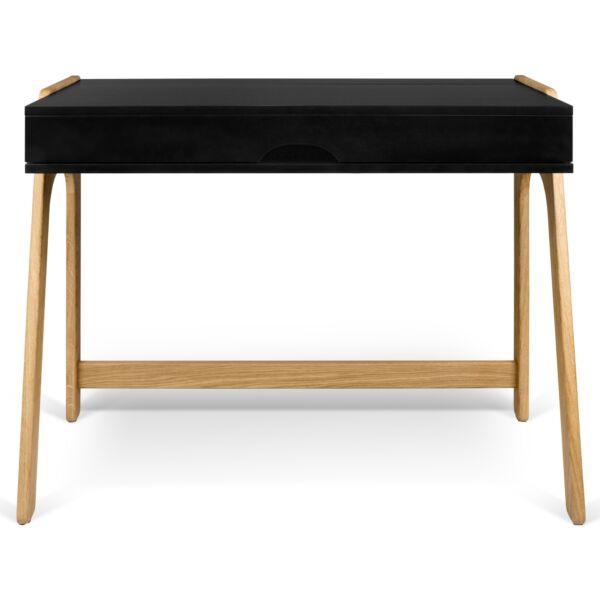 Aura íróasztal, tölgy/fekete
