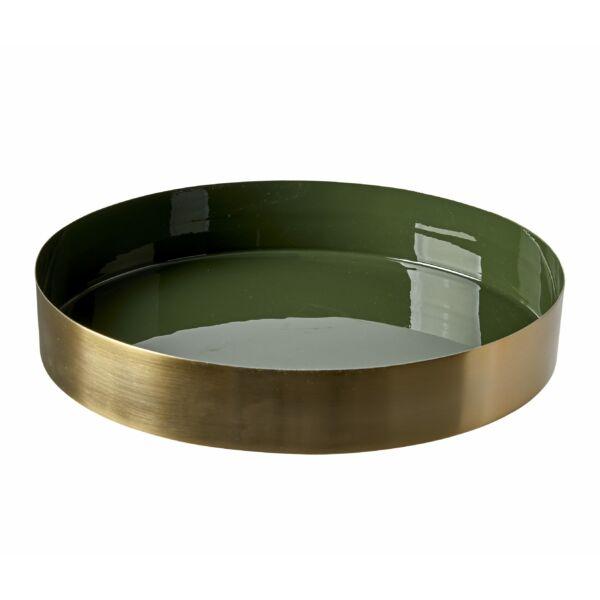 Tala tálca, zöld/sárgaréz