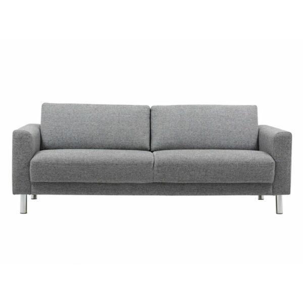 Cleveland 3 üléses kanapé, szálcsiszolt króm láb