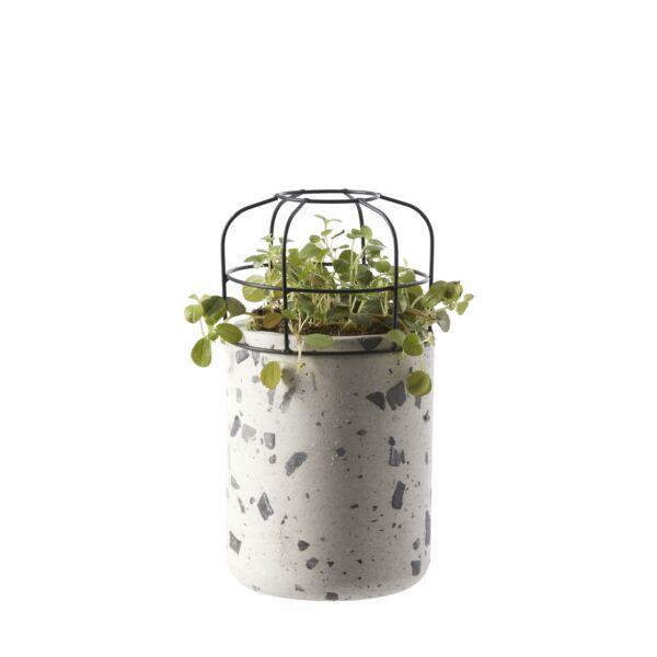 Rucus virágcserép, törtfehér, D16cm