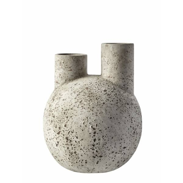 Landon váza, beton hatású, D24 cm