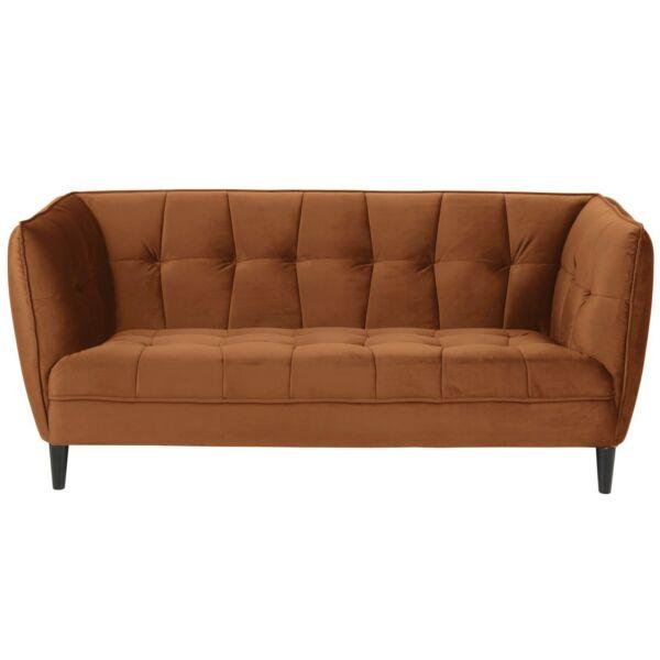 Jonna 2,5 üléses kanapé, rozsdabarna bársony