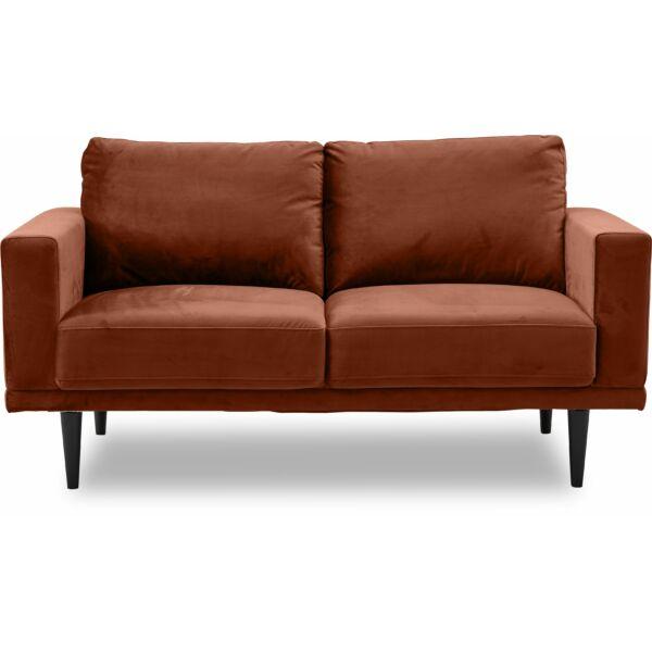Corona 2,5 személyes kanapé, rozsdabarna bársony